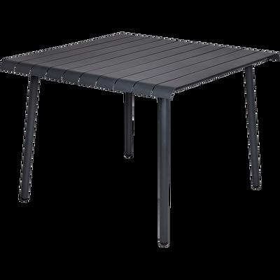 Table de jardin grise en aluminium (2 à 4 places)-SANDRO