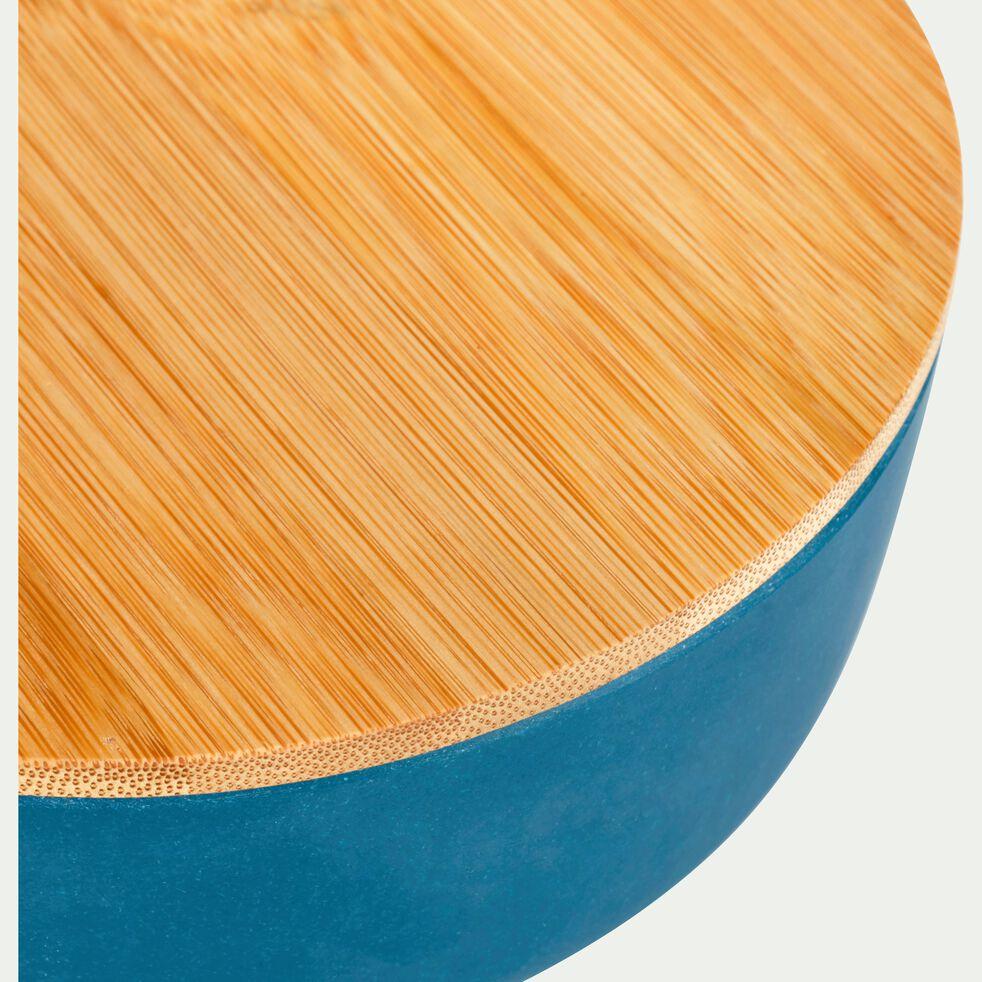 Saladier en fibre de bambou bleu D25,5cm-TREZ