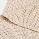Plaid tricoté en coton - blanc ventoux 130x170cm-CAMOIN