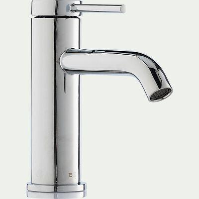 Mitigeur de lavabo en laiton - argenté H14,6cm-DARIO