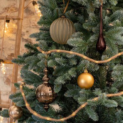 Boule de Noël goutte en verre rouge H18,41cm-EYRIES
