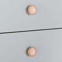 Commode en bois gris 3 tiroirs-SIMPLY