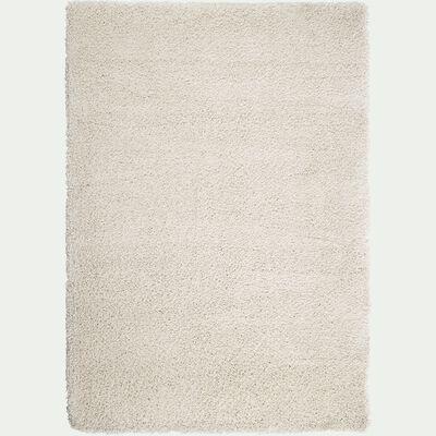 Tapis à poils longs - blanc écru 120x170cm-Kris