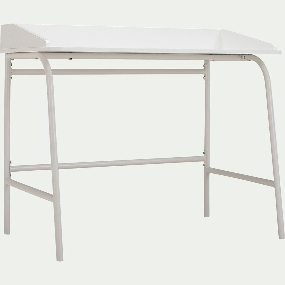 Bureau enfant en bois - blanc-CARLOTA