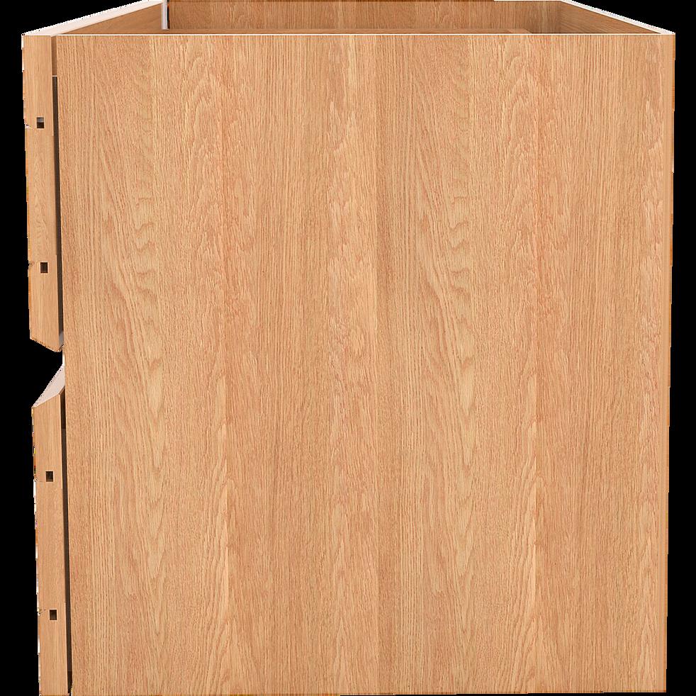 Bloc de 2 tiroirs coloris chêne clair-LORENA