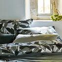 Housse de couette en coton motif Laurier - vert 240x220cm-SARA