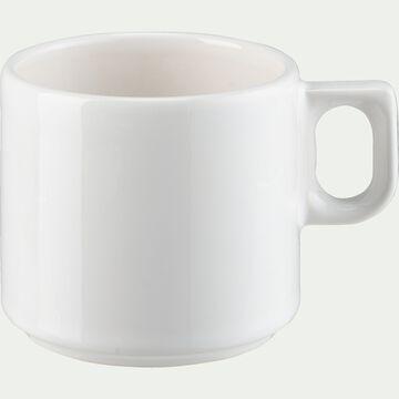 Tasse à thé en faïence blanc ventoux 25cl-VADIM