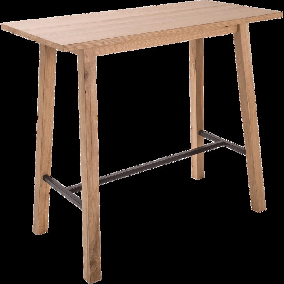 Table haute rectangulaire l117cm rita 117x58 cm - Table haute cuisine alinea ...