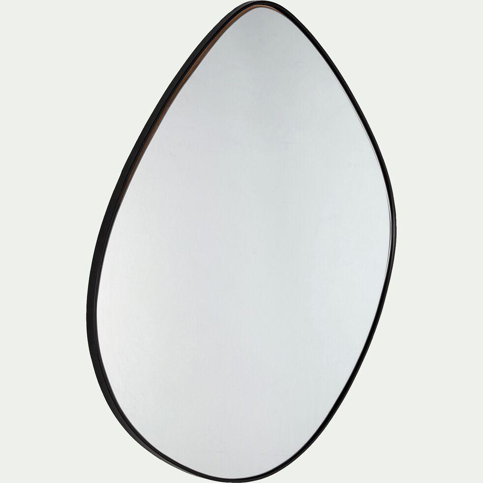 Miroir en métal - noir 71,5x70,5cm-HONNOREE
