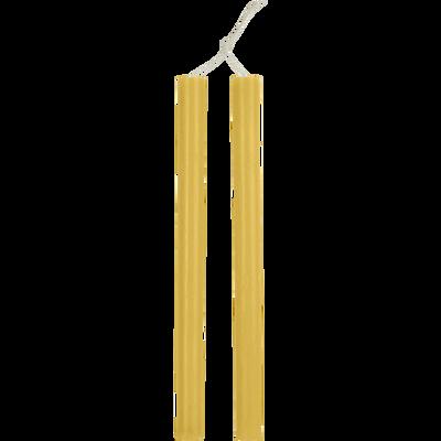 Bougie duo de flambeau beige nèfle H30cm-BEJAIA
