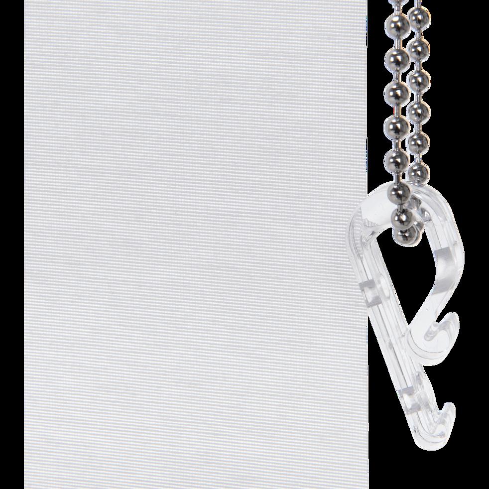 Store enrouleur voile blanc 80x250cm-VOILE