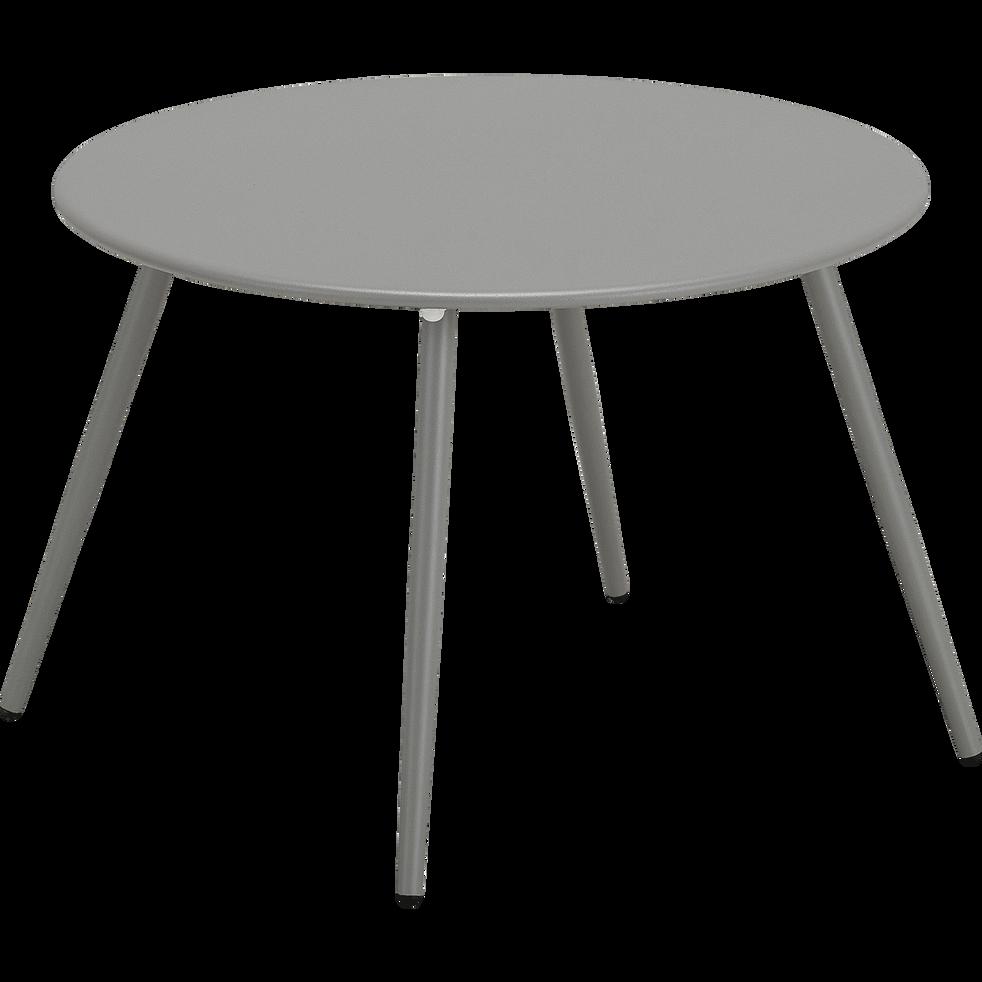 table basse de jardin en acier gris restanque vasto. Black Bedroom Furniture Sets. Home Design Ideas