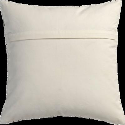 Coussin en coton imprimé écru 40x40cm-SAULE