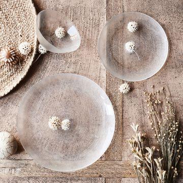 Gamme de vaisselle en verre strié-ATENA
