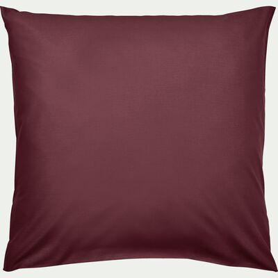 Lot de 2 taies d'oreiller en coton - rouge sumac 65x65cm-CALANQUES