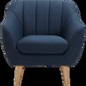 Fauteuil en tissu bleu foncé-SHELL