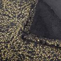 Plaid bleu à motifs dorés 130x170cm-GINKO