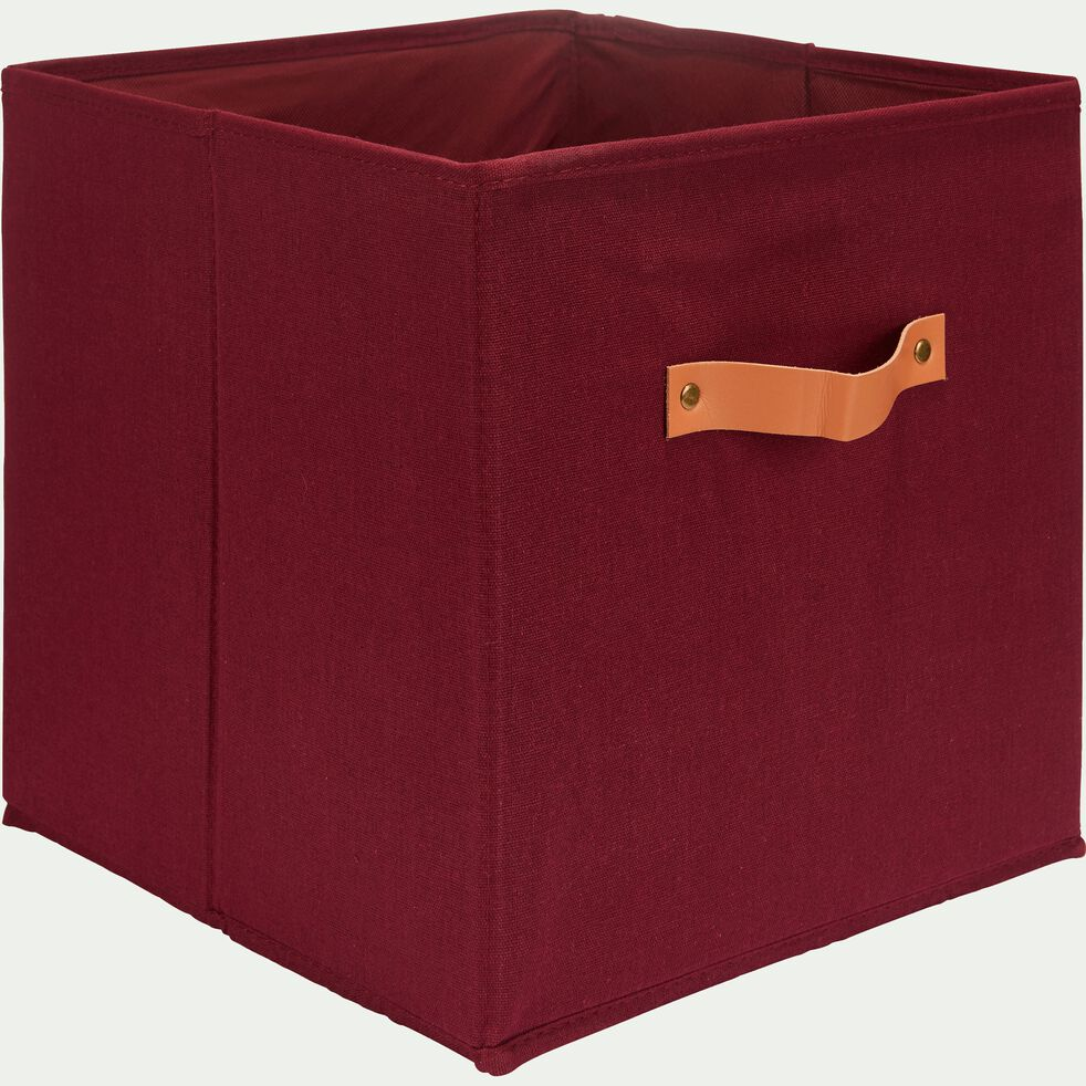 Panier de rangement en polycoton - rouge sumac 31x31cm-ERRO