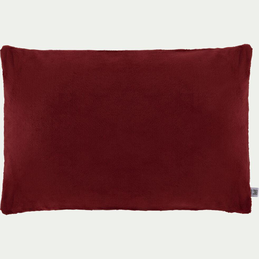Housse de coussin effet polaire en polyester - rouge sumac 40x60cm-ROBIN