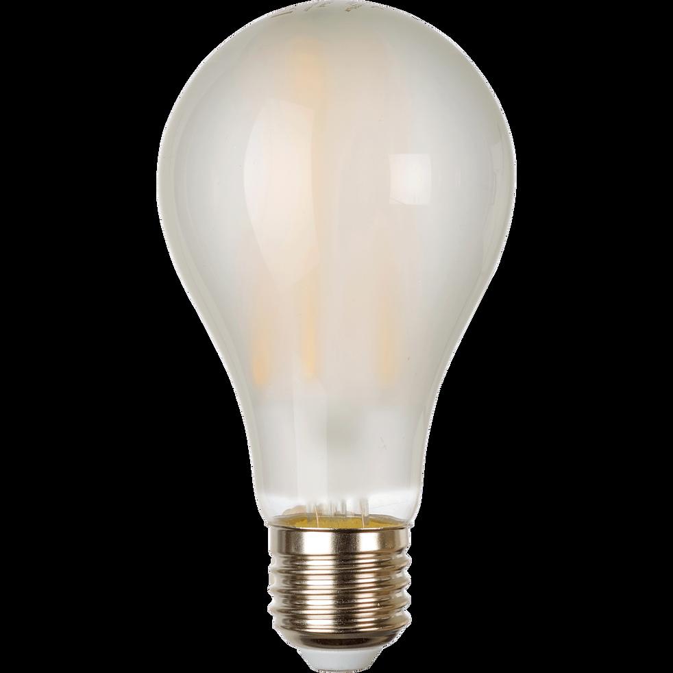 Ampoule LED en verre dépoli blanc chaud D6,5cm culot E27-STANDARD