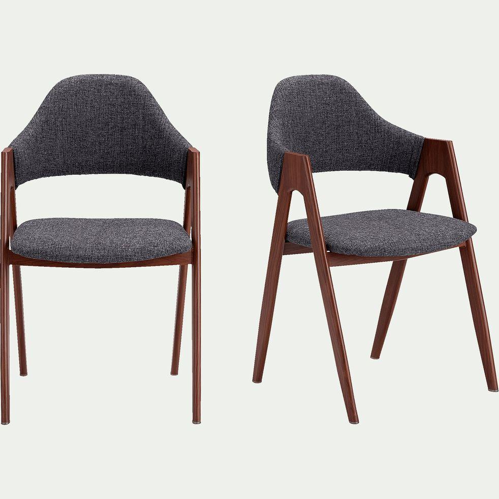Chaise en tissu - gris foncé-GONZAGUE