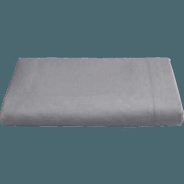 Drap plat en percale de coton  270x300 cm gris restanque-FLORE
