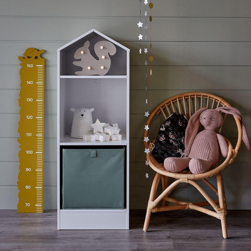 Bibliothèque 2 étagères forme maison pour chambre enfant - blanc-Dico