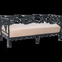 Lit 1 place banquette gigogne en acier noir - 90x200 cm-ACTY