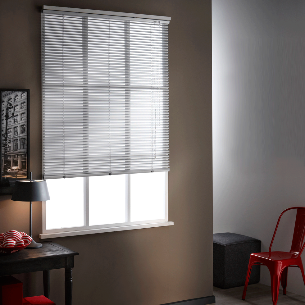 Store vénitien en aluminium gris 125x175cm-VENITIEN AL