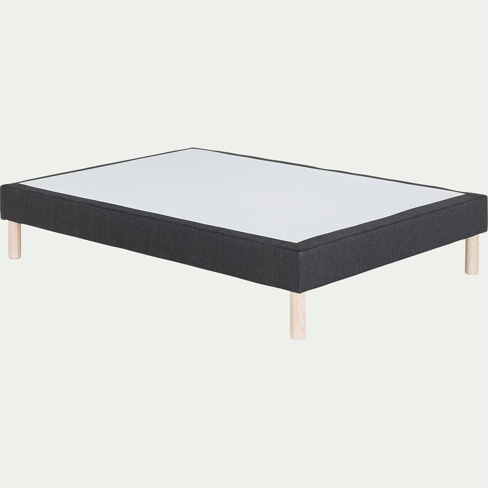 Sommier tapissier 140x190cm gris anthracite-SORMIOU