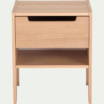 Chevet un tiroir  et une niche - naturel-BOIO