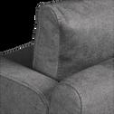Canapé 2 places fixe gris restanque-OLIVIA