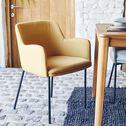 Chaise en tissu avec accoudoirs - jaune argan-TINOU