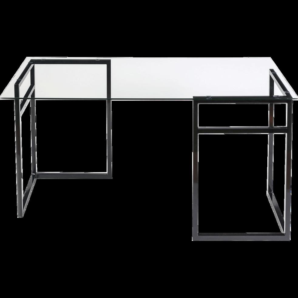 plateau de bureau en verre transparent 75x150 cm miro. Black Bedroom Furniture Sets. Home Design Ideas