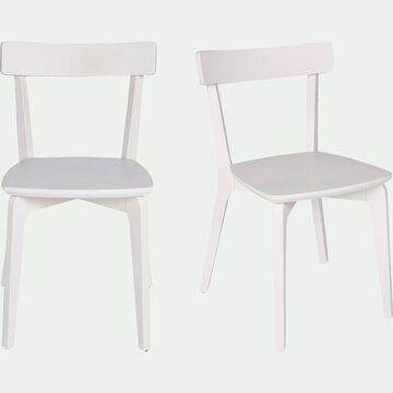 Chaise en bois - blanc nougat-SUZIE