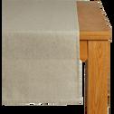 Chemin de table beige pailleté 40x140cm-GAMRA