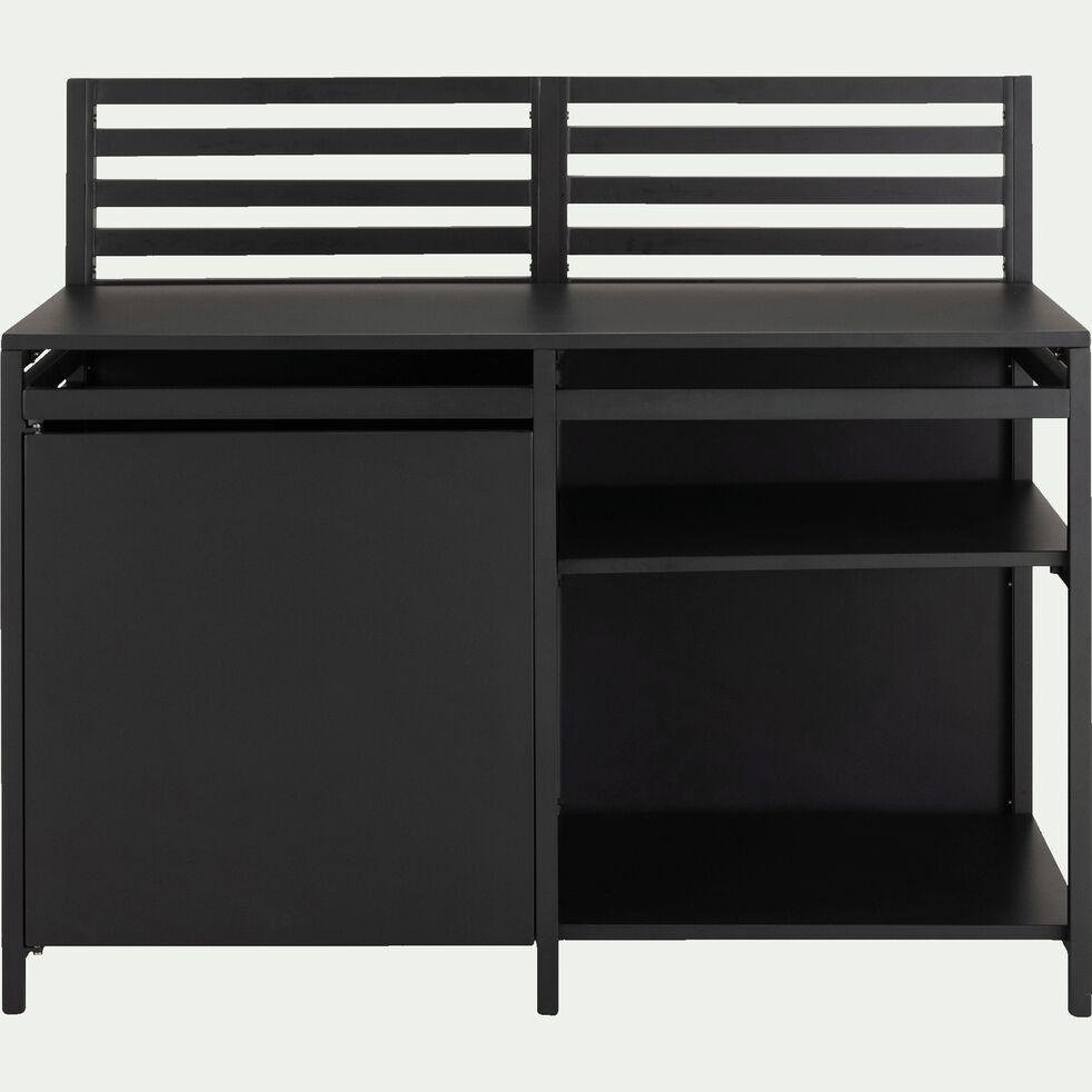 Meuble de cuisine extérieur en acier et aluminium - noir-ETCHE