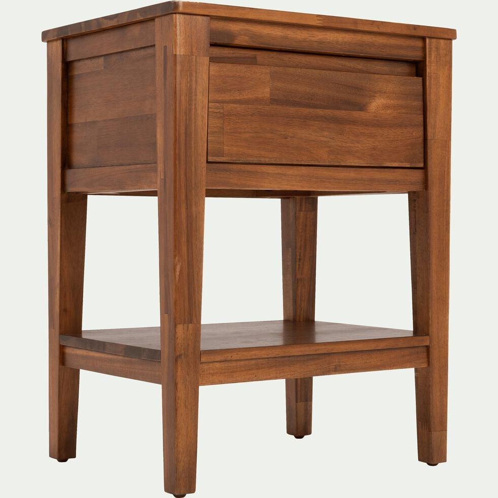 Table De Chevet En Acacia Massif 1 Tiroir Thao Table De Chevet
