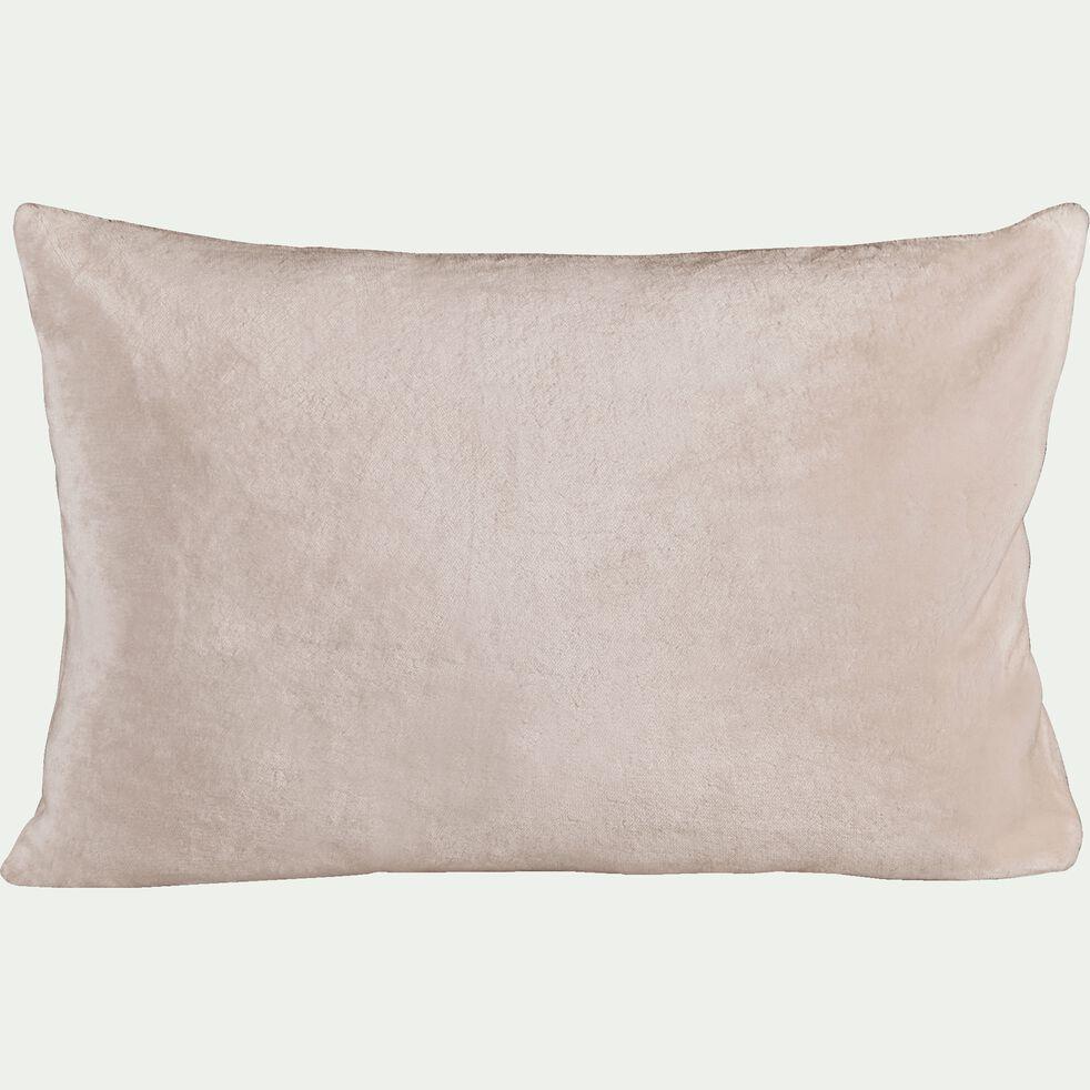 Housse de coussin effet polaire en polyester - rose argile 40x60cm-ROBIN