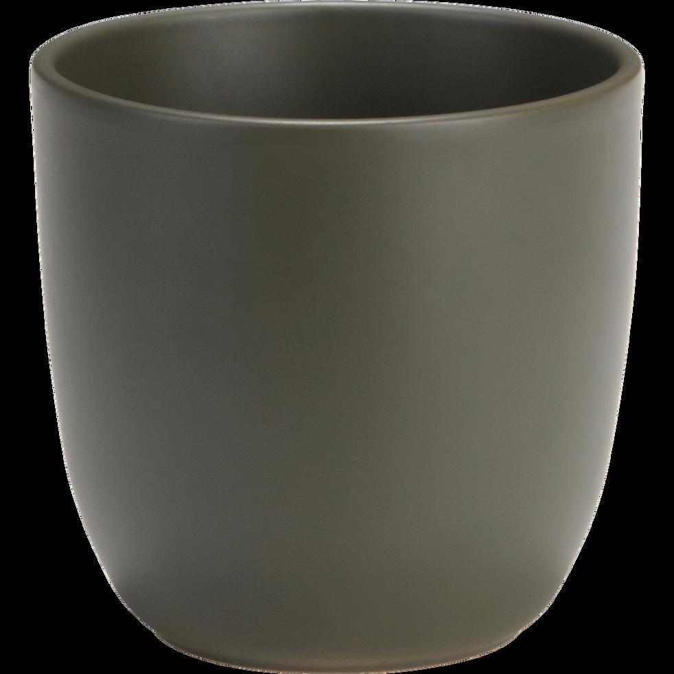 Pot vert cèdre en céramique (plusieurs tailles)-TUSCA