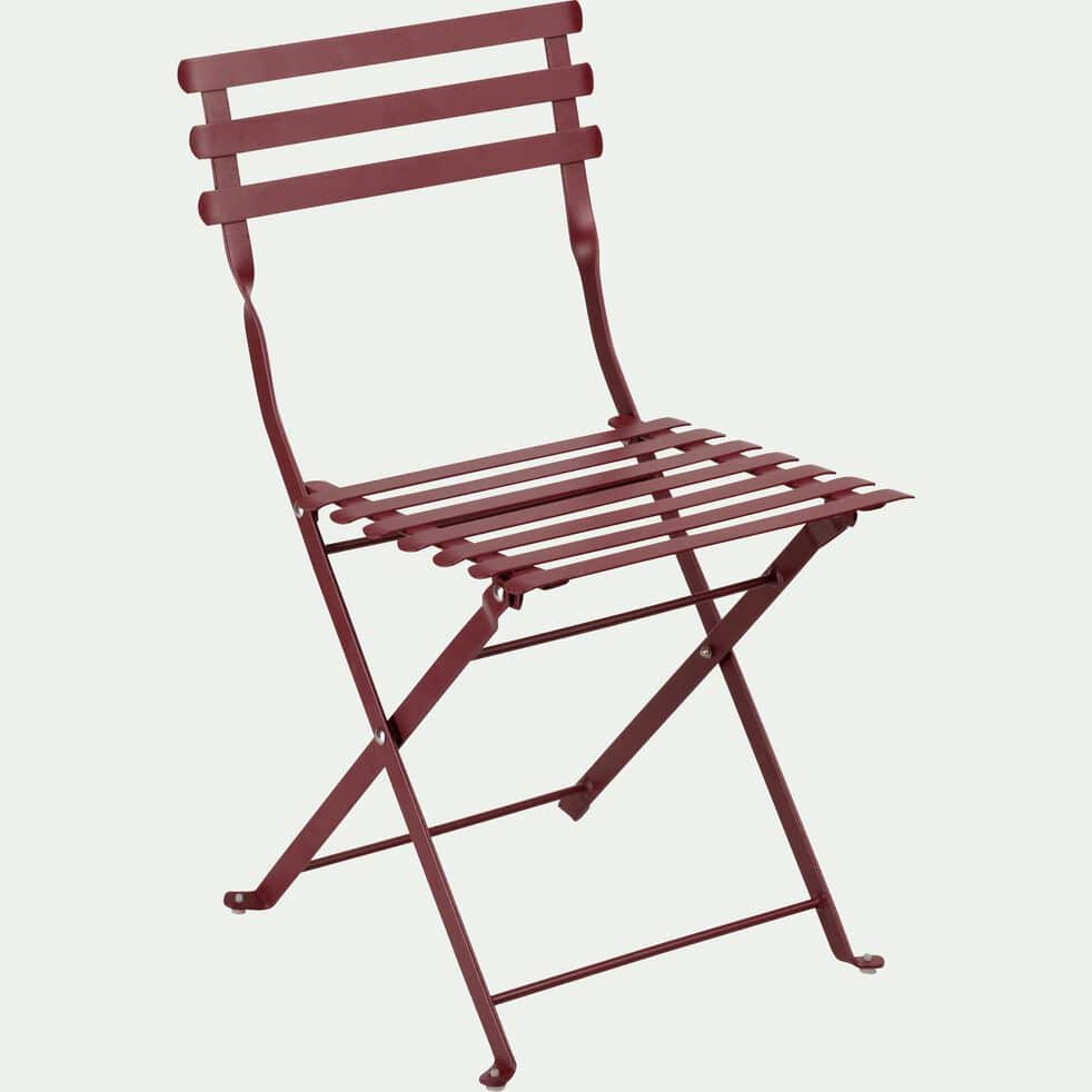 Chaise de jardin enfant rouge sumac-CERVIONE