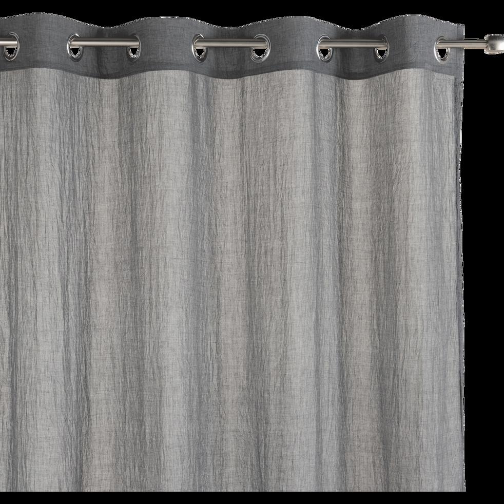 Voilage à œillets gris 130x250cm-Alby