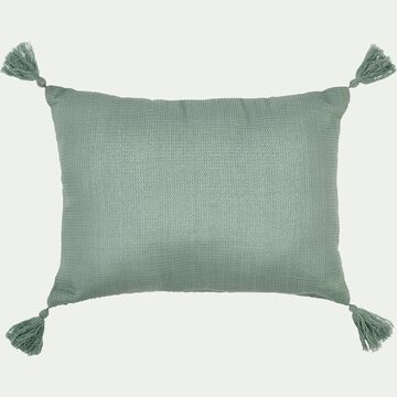 Coussin rectangle en coton 30x40cm - vert-Songe