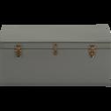 Malle de rangement en métal vert cèdre-ALIX