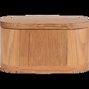 Boite ovale en bois de chêne-FLORA
