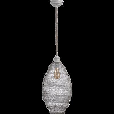 Suspension en métal gris clair H58xD29cm-LENNART