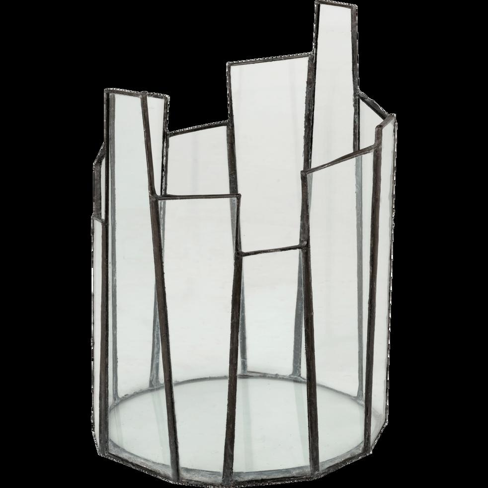 Photophore en verre H21 cm-MATUCANA