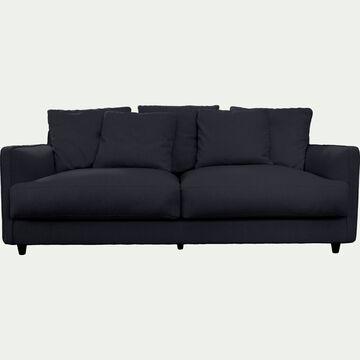 Canapé 3 places convertible en tissu - gris restanque-LENITA