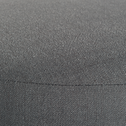 Pouf en tissu gris-PLUME