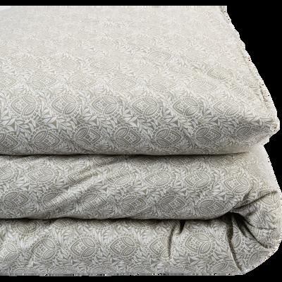 Housse de couette en coton motif Amande - Plusieurs tailles-CIGALO